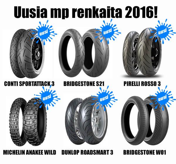 Uusia mp renkaita 2016