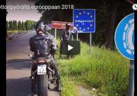 Moottoripyörä matka Eurooppaan mprenkaat