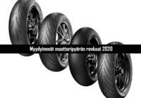 Myydyimmät moottoripyörän renkaat ajokaudella 2020 mprenkaat-store