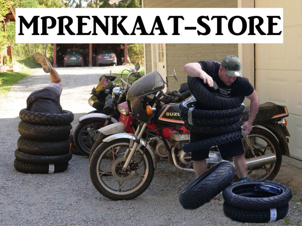 Testajä moottoripyörän renkaat